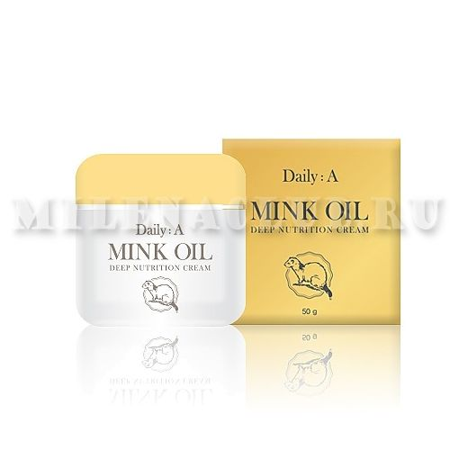 Deoproce Крем для лица с маслом норки Daily: A Mink Oil Deep Nutrition Cream 50г